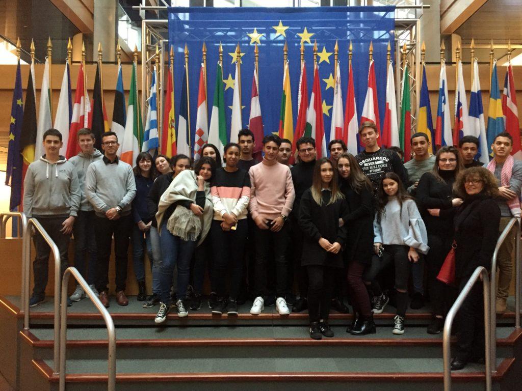 La classe P10 au Parlement Européen