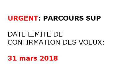 DATE LIMITE DE VALIDATION DES VOEUX